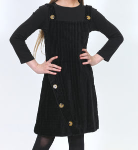 LU CORDUROY STRAP DRESS
