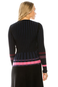 YAL RIBBED MULTI STRIPED COLOR SWEATER