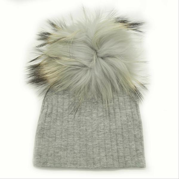 MAX COLORS RIBBED POM POM HAT
