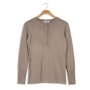 POINT KNIT HENLEY