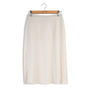 POINT CABLE KNIT ALINE SKIRT