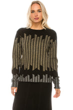 Load image into Gallery viewer, YAL COLORBLOCK STRIPE KNIT DETAIL SWEATER