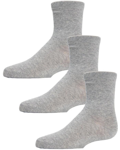 Boys Girls Unisex Mid-Cut Crew Socks 3 Pack - Head Over Heels - Israel - MEMOI - מכף רגל ועד ראש