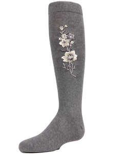 MEMOI LUMINOUS FLOWER KNEE HIGH - Head Over Heels - Israel