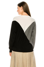 Load image into Gallery viewer, YAL ASYM COLORBLOCK DETAIL SWEATER