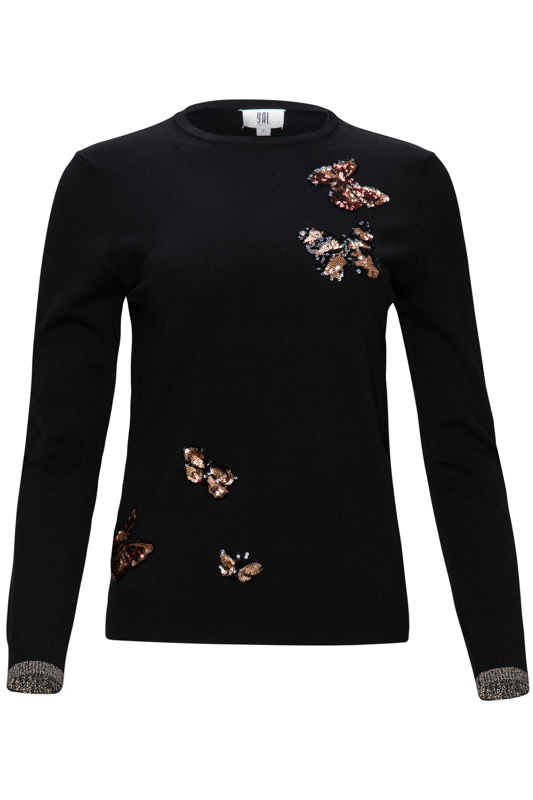 YAL SEQUIN BUTTERFLY DETAIL SWEATER - Head Over Heels - Israel
