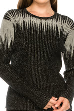 Load image into Gallery viewer, YAL RIBBED SHIMMER DETAIL SWEATER