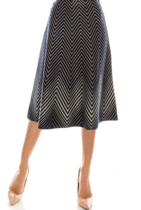 YAL MULTI LUREX STRIPE SKIRT - Head Over Heels - Israel - YAL - מכף רגל ועד ראש