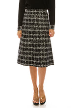 Load image into Gallery viewer, YAL KNIT BOX PRINT DETAIL SKIRT