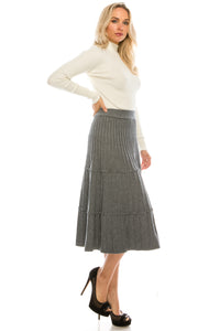 YAL KNIT TIER SKIRT