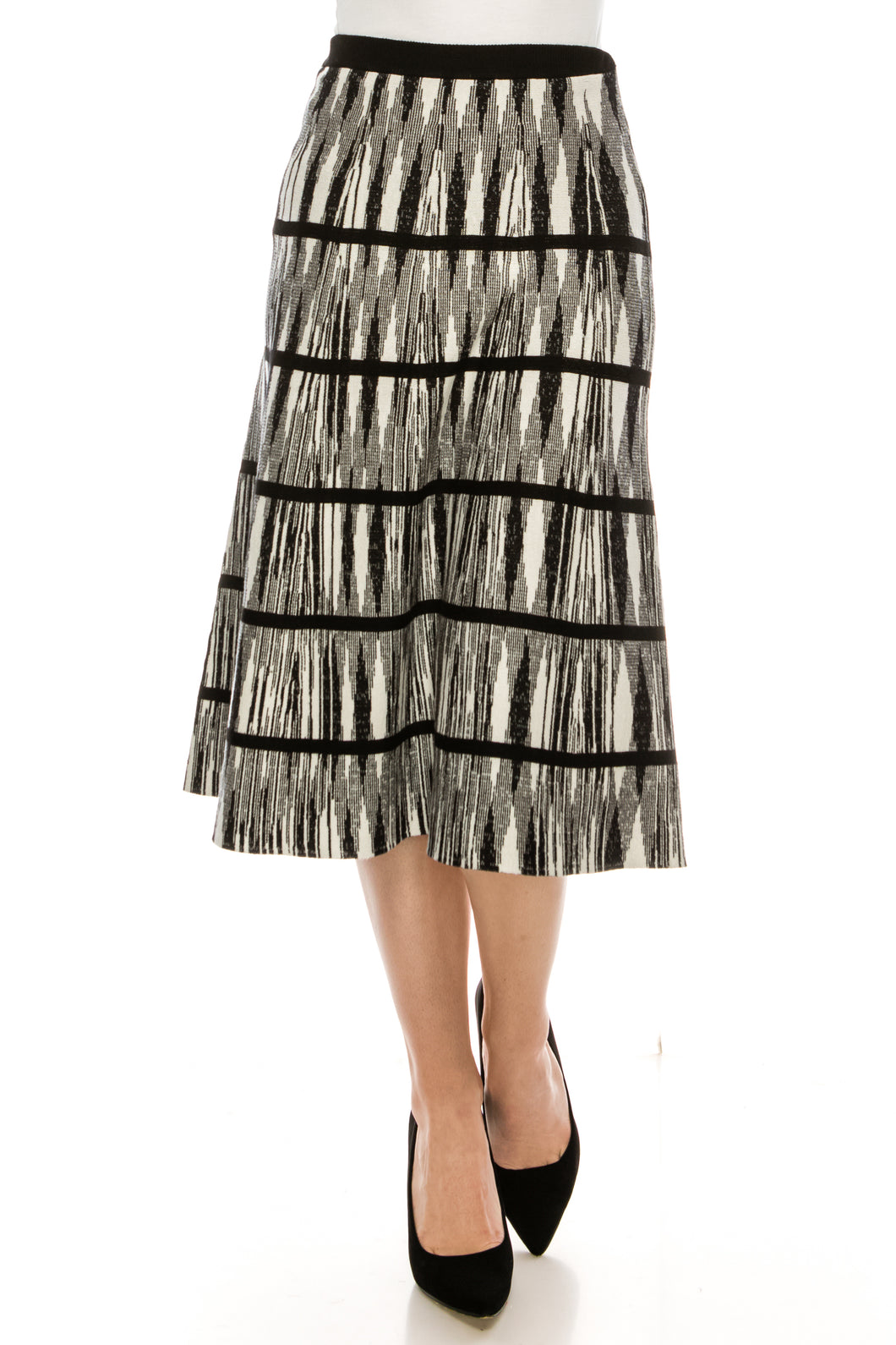 YAL SPACE DYE PRINTED KNIT SKIRT