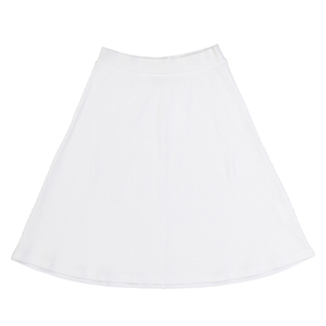 GIRLS THIN RIBBED A-LINE SKATER SKIRT