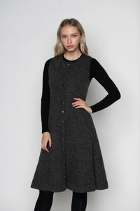 LU BUTTON UP A LINE JUMPER DRESS