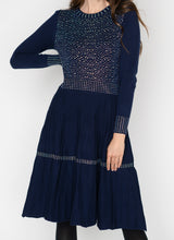 Load image into Gallery viewer, LU LONG SLEEVE DRESS WITH SEQUIN DETAIL