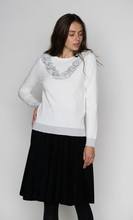 Load image into Gallery viewer, LU CREW NECK LONG SLEEVE WITH FRILLED DETAIL