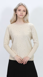 LU KNIT SHIRT WITH SILVER SEQUINS