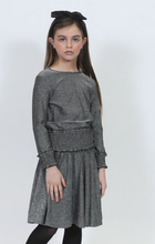 Load image into Gallery viewer, LU METALLIC SKIRT WITH RUFFLE WAISTBAND