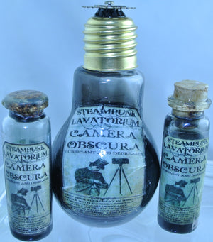STARR WILDE STEAMPUNK POTION GLASS BOTTLE CAMERA OBSCURA OIL LIGHTBULB 4 SIZES TO CHOOSE FROM