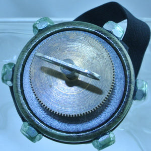 MONOCLE BRASS GREEN COPPER AUTHENTIC GENUINE WATCH CLOCK BARREL KINETIC TURN KEY GOGGLES STARR WILDE STEAMPUNK FORTRESS
