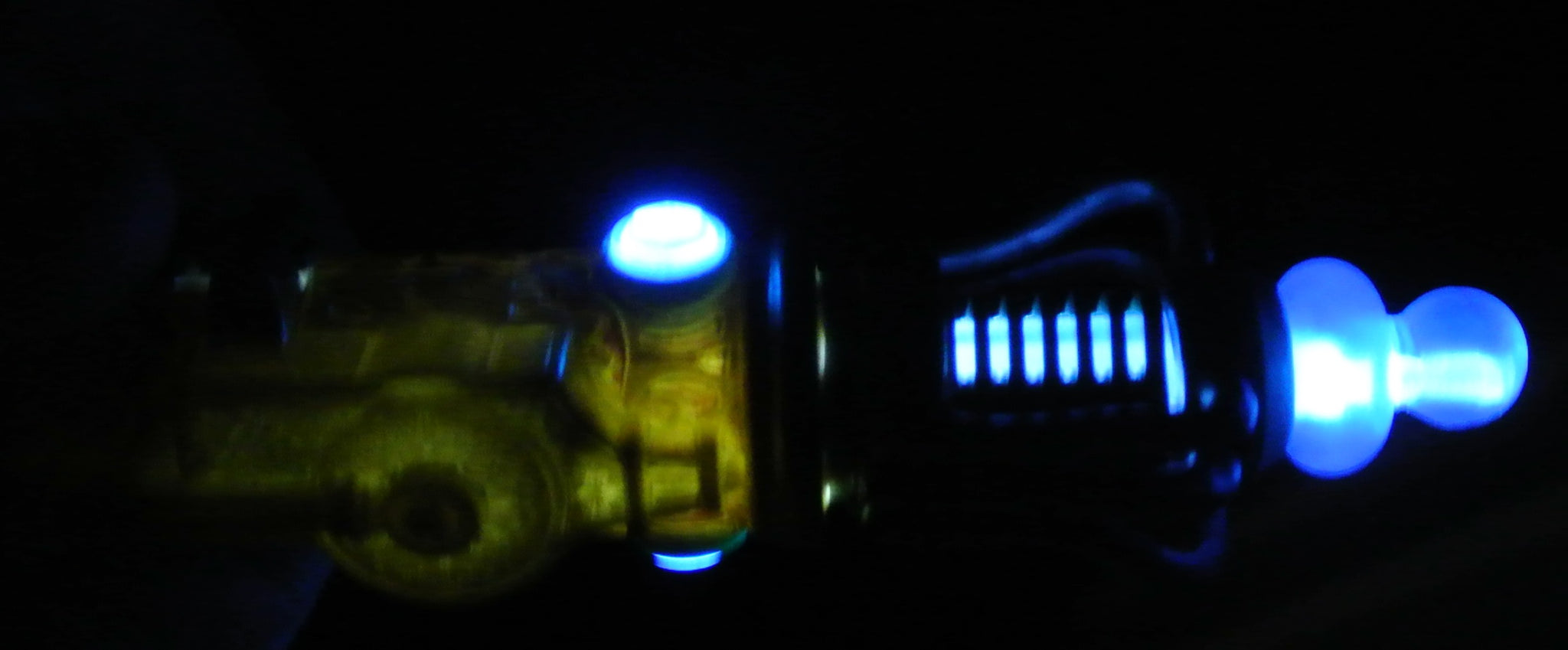 GOLD SWIRL DOCTOR WHO DR SONIC SCREWDRIVER LIGHTS UP WORKING 8 SOUNDS STARR WILDE STEAMPUNK FORTRESS COSPLAY COSTUME