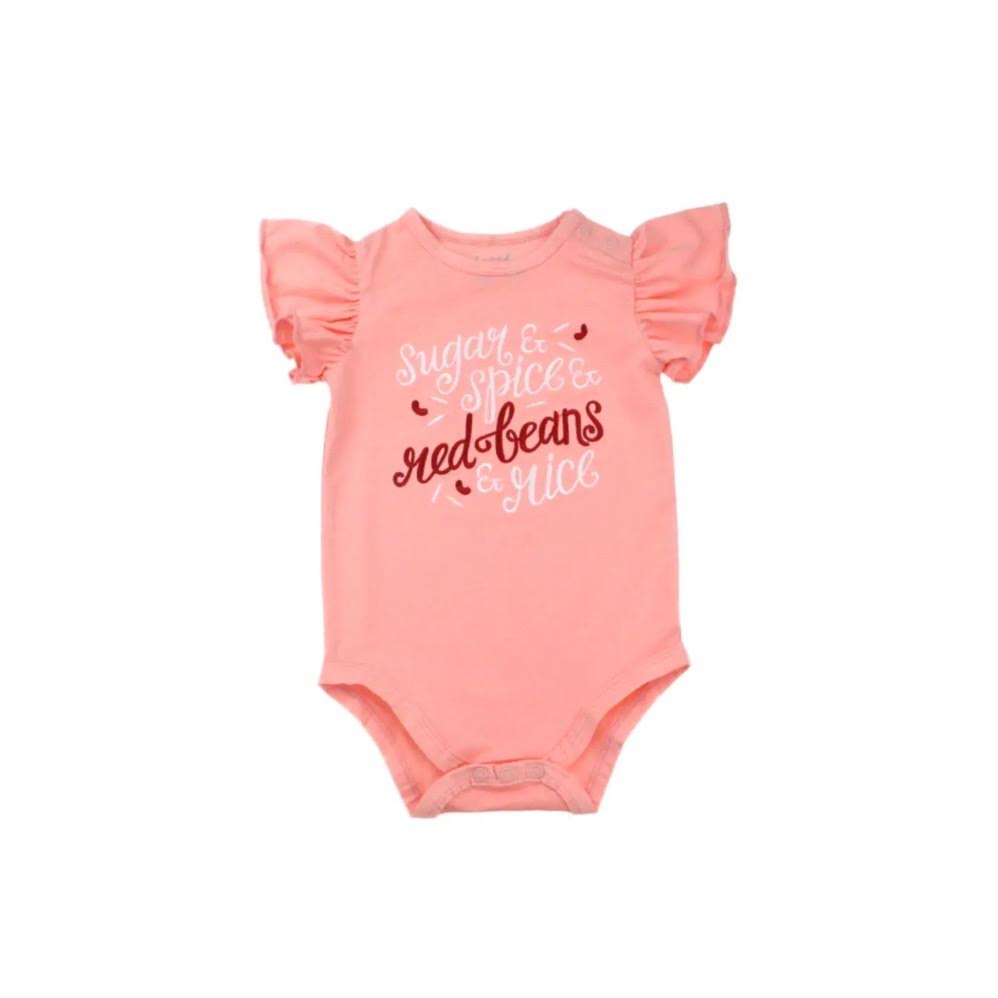 INFANT RED BEANS ONESIE