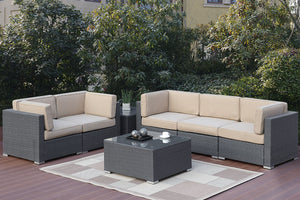 461 Outdoor 7-Pcs Sofa Set