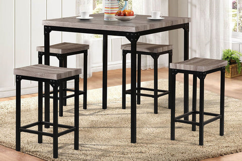F2141 Dining Room 5-Pcs Counter Set