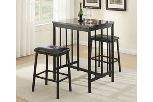 F2154 Dining Room 3-Pcs Counter Height Set