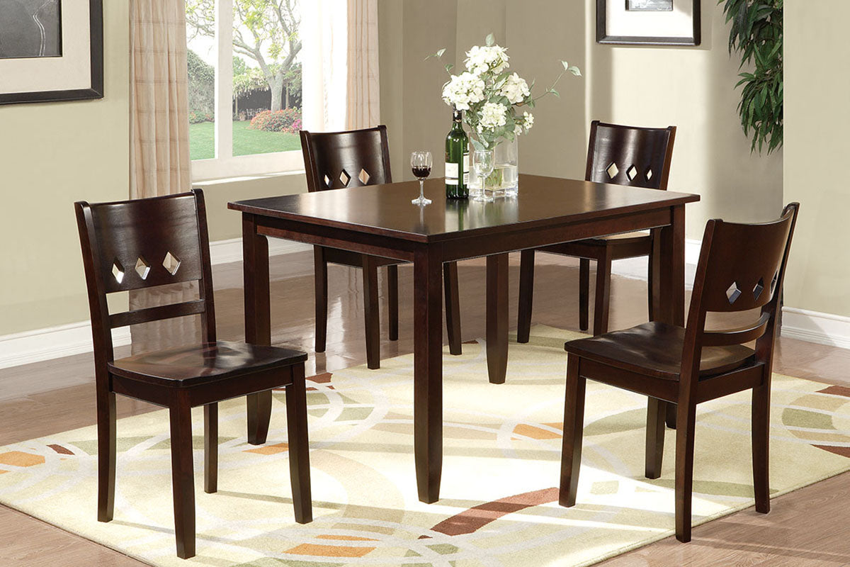 F2242 Dining Room 5-Pcs Dining Set
