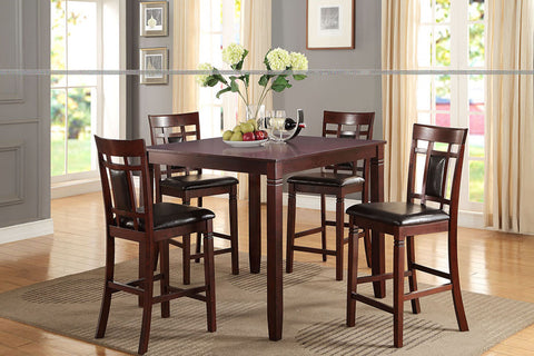 F2252 Dining Room 5-Pcs Counter Height Set