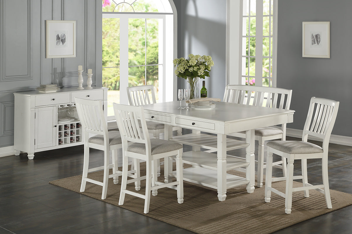 F2466 Dining Room Counter Height Table