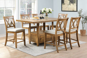 F2493 Dining Room Counter Height Table