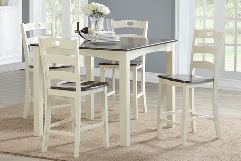 F2544 Dining Room 5-Pcs Counter Height Set
