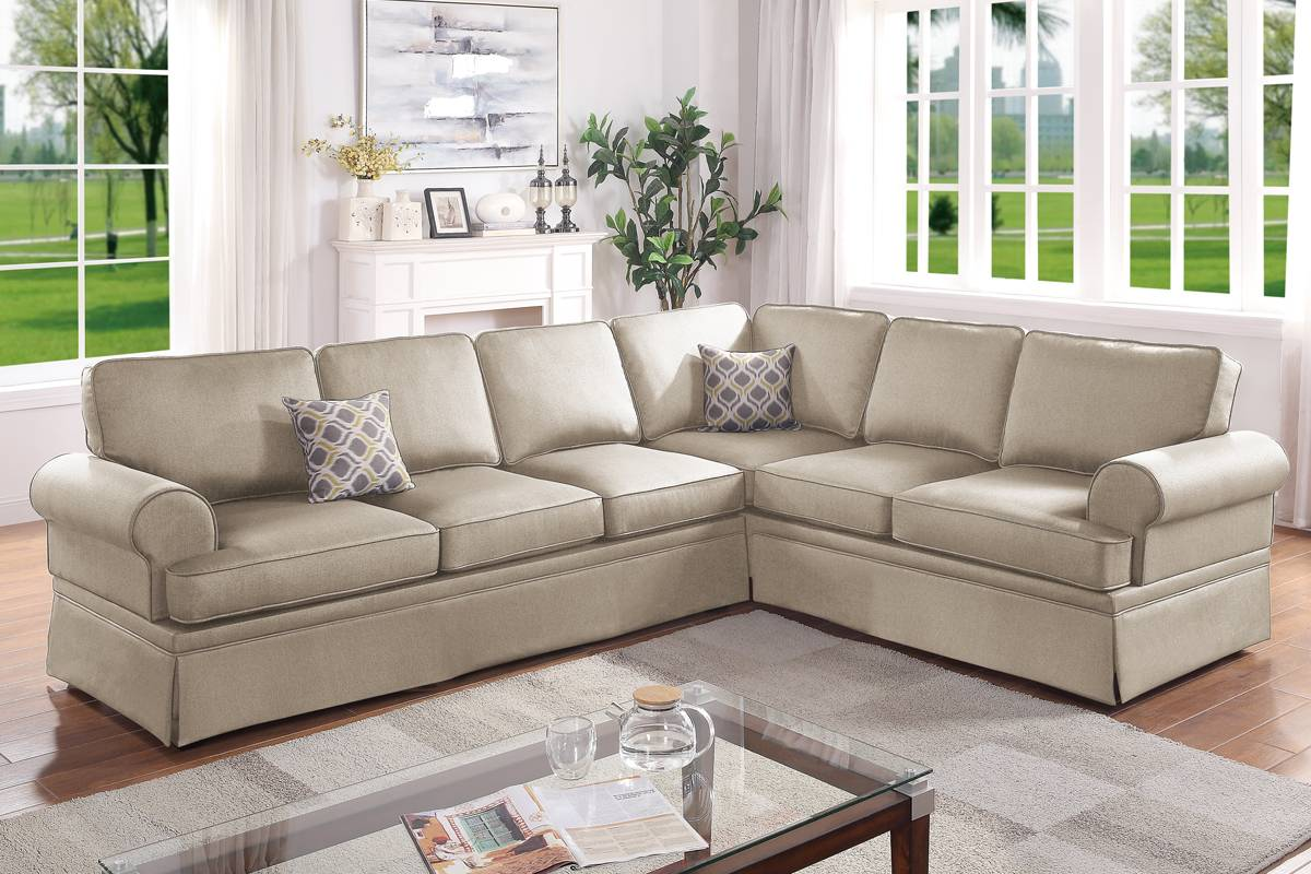 F6421 Living Room 2-PCS Sectional Sofa Set