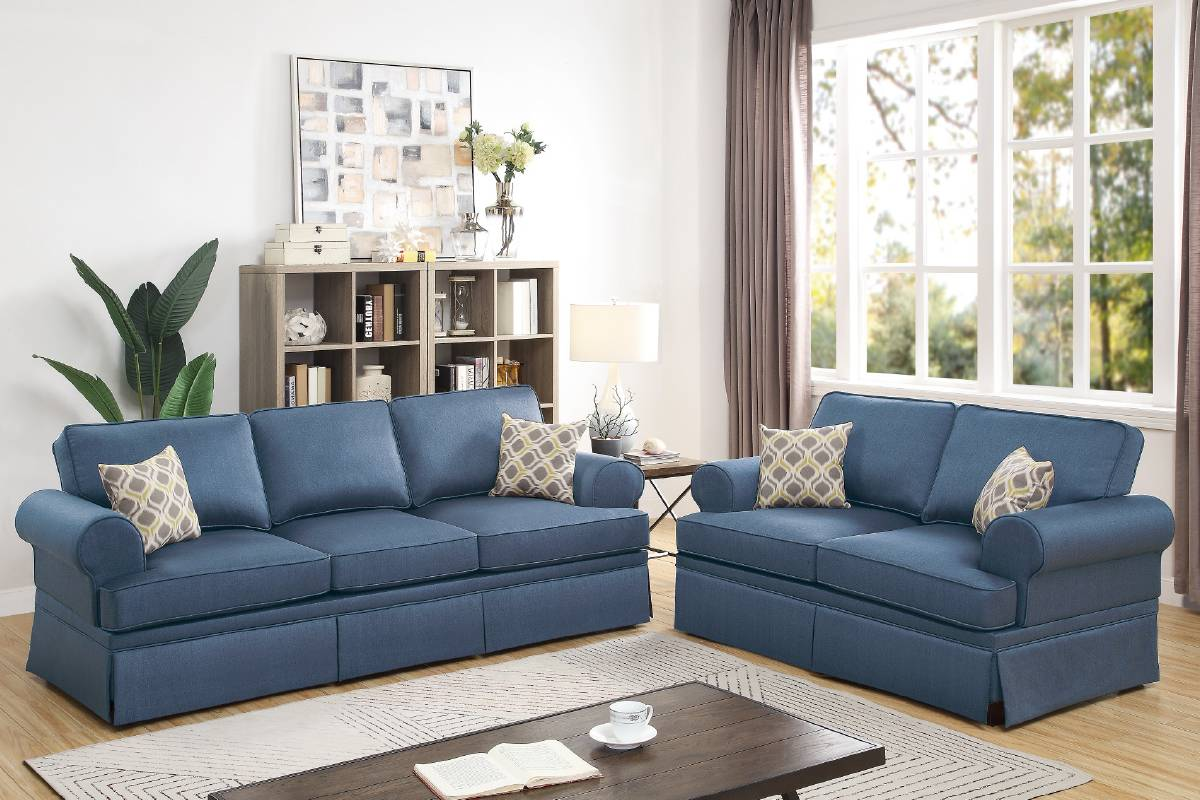 F6443 Living Room 2-PCS Sofa Set