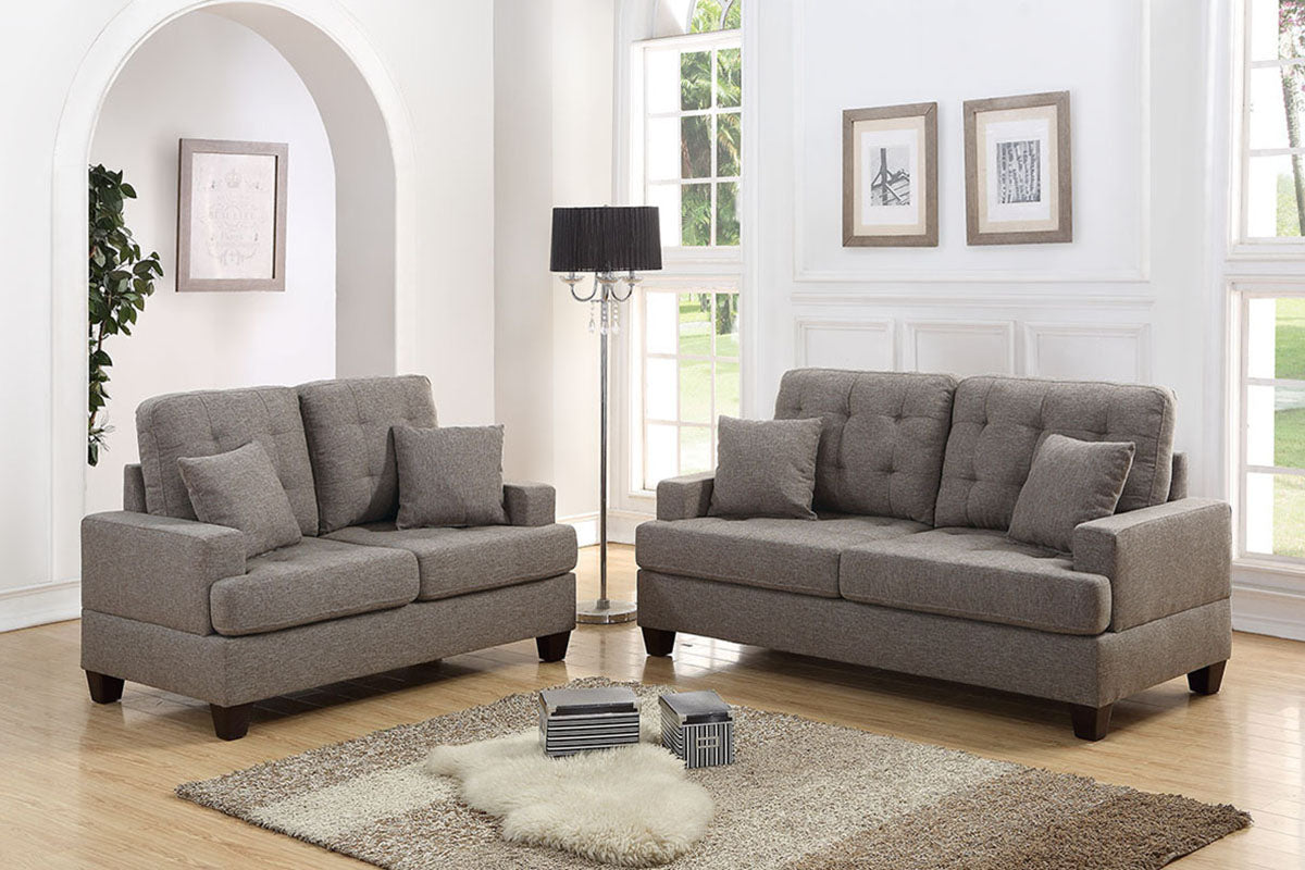 F6501 Living Room 2-Pcs Sofa Set