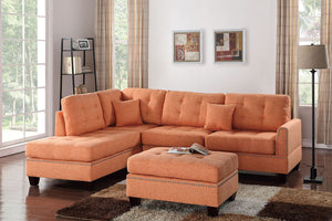 F6506 Living Room 3-Pcs Sectional Sofa