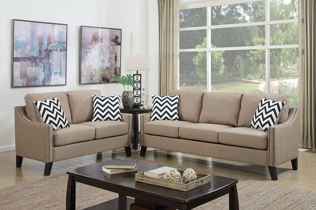 F6908 Living Room 2-Pcs Sofa Set