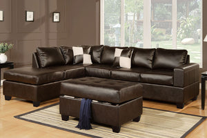 F7351 Living Room Sectional w/ Ottoman