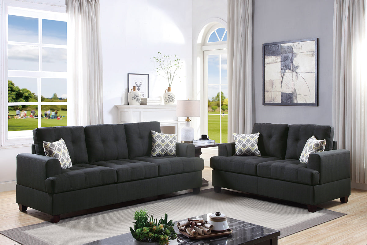 F7597 Living Room 2-Pcs Sofa Set