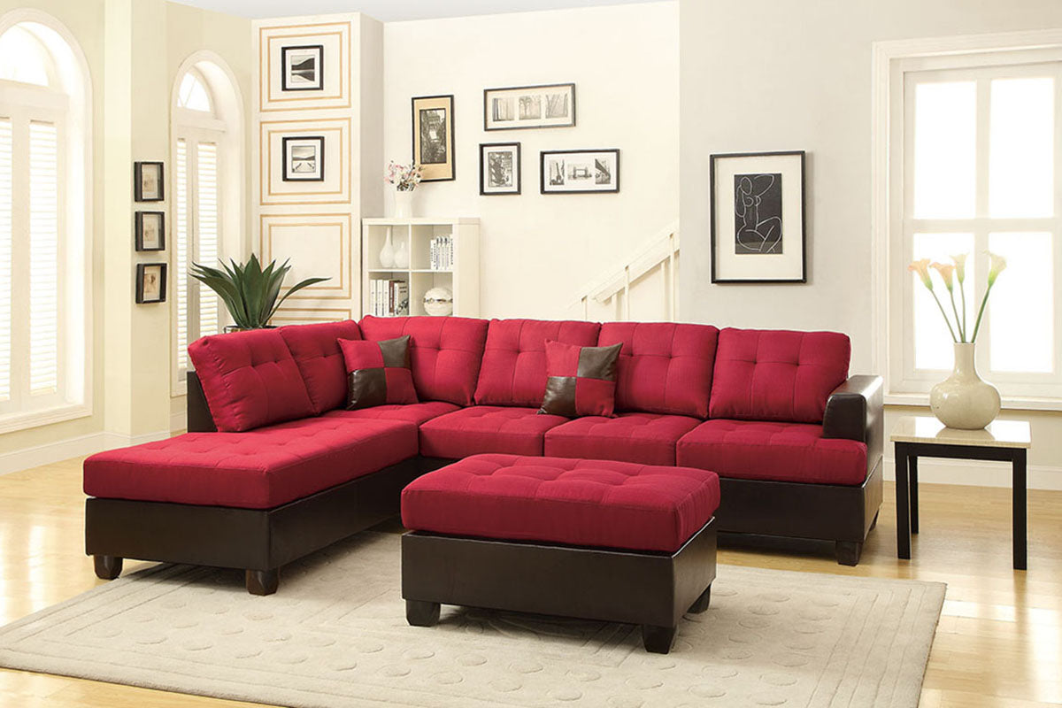 F7601 Living Room 3-Pcs Sectional Set