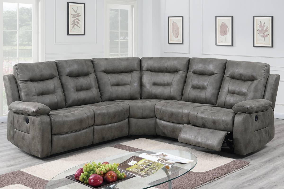 F86607 Living Room Power Motion Sectional