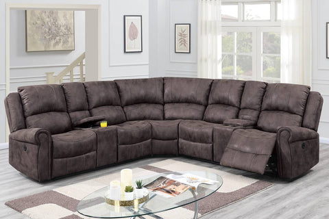 F86608 Living Room Power Motion Sectional