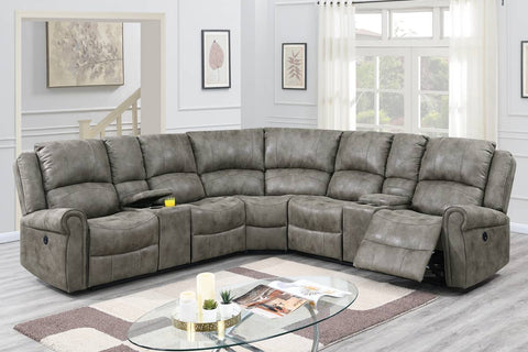 F86609 Living Room Power Motion Sectional