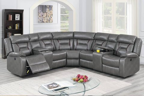 F86611 Living Room Power Motion Sectional