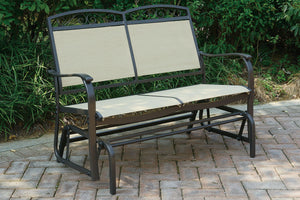 P50138 Outdoor Glider loveseat