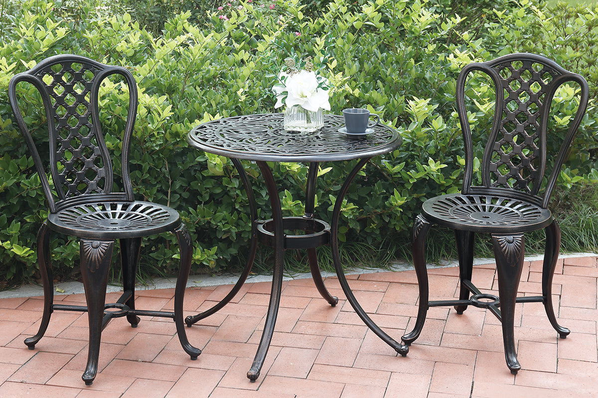 P50207 Outdoor 3-Pcs Bistro Set