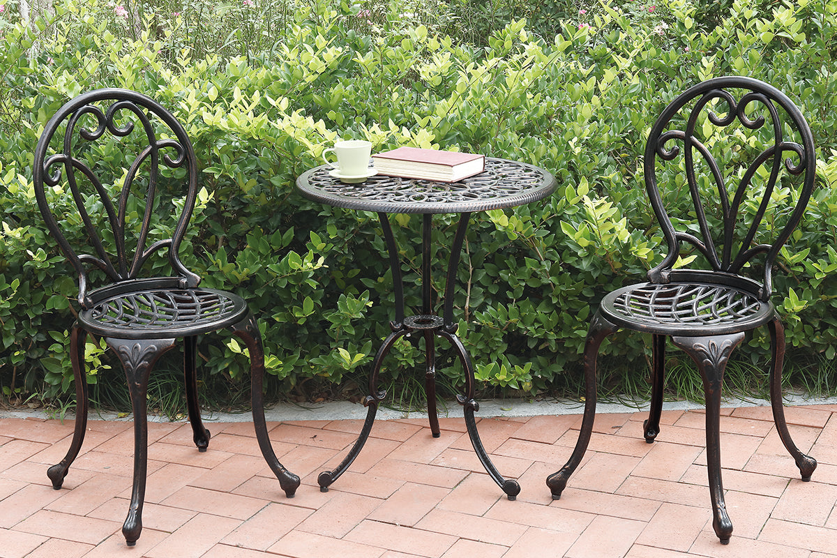 P50208 Outdoor 3-Pcs Bistro Set