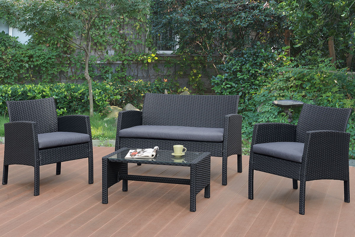 P50229 Outdoor 4-Pcs Conversation Set