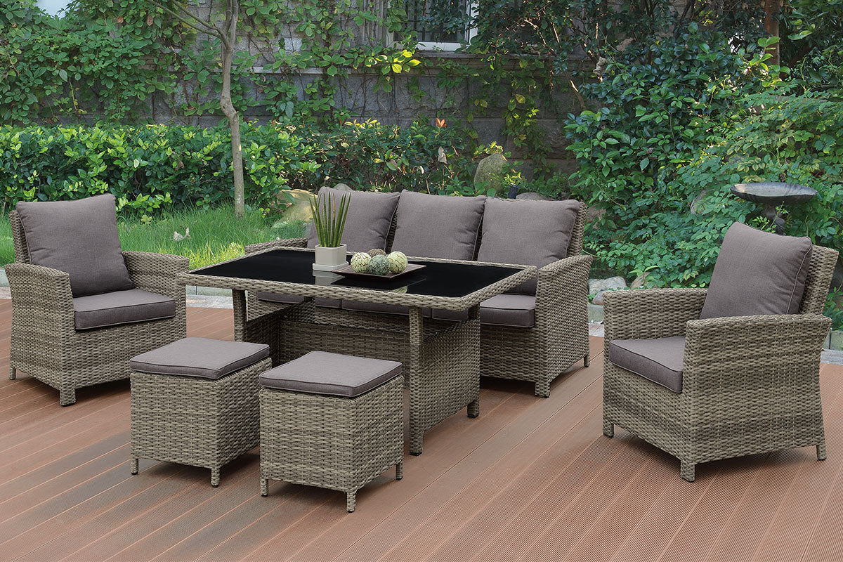 P50285 Outdoor 6-Pcs Conversation Set